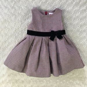 Gymboree Houndstooth Party Dress 3-6 Months Black